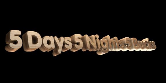 Make 3D Text Logo - Free Image Editor Online - 5 Days 5 Nights 5 Bucks
