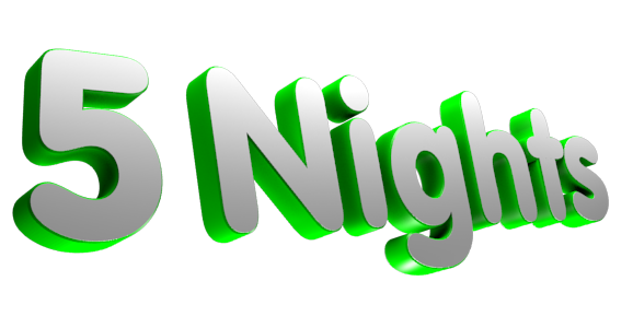 3D Text Maker - Free Online Graphic Design - 5 Nights